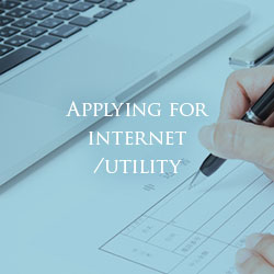 Applying for internet/utility